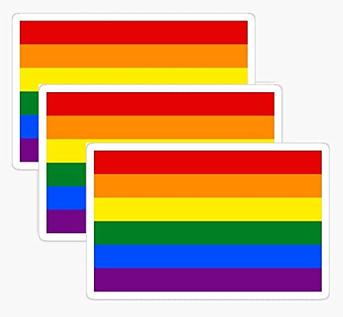 13pcs - Value Pack Pride Gay LGBT Rainbow Flag Proud Sticker - Decal for...