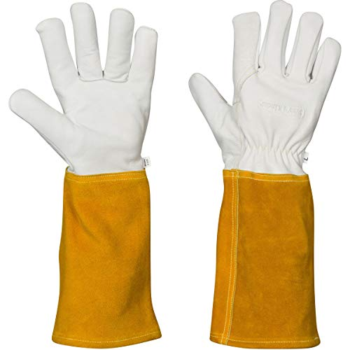 Fireplace Gloves for Women, Mig Tig Welding Gloves XS Cowhide Kevlar(x...