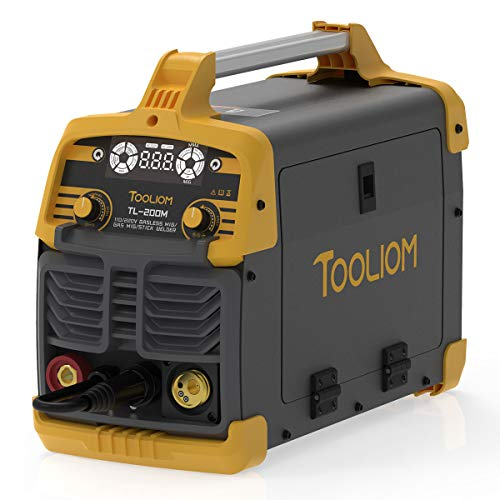 TOOLIOM 200A MIG Welder 3 in 1 Flux MIG / Solid Wire / Lift TIG / Stick...